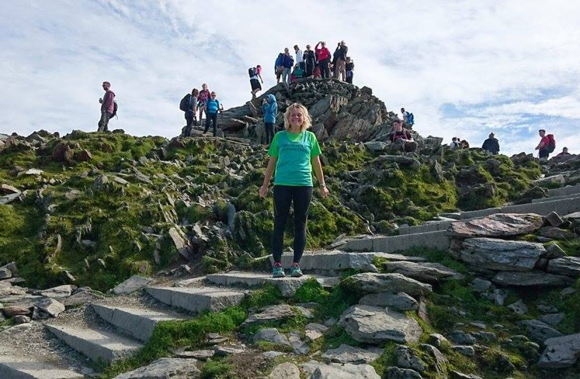 160901-Debbie Marriott up a mountain in Wales