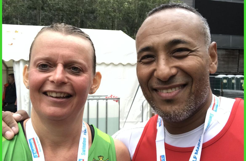 Cheryl Flew The Swindon Half Marathon.